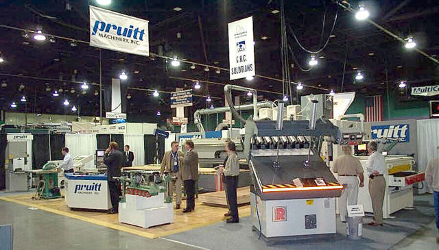 Pruitt Machinery booth at a trade show.