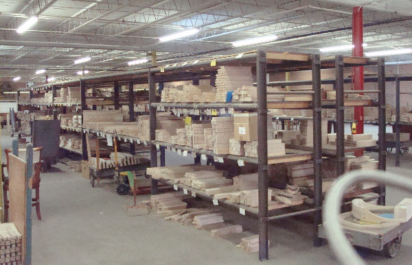 LOT OF HEAVY-DUTY CUSTOM-BUILT PALLET RACKING