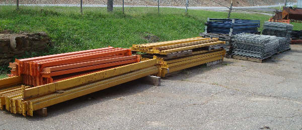 LOT OF 42 INCH DEEP PALLET RACKING