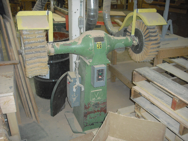 G&P DOUBLE SPINDLE BRUSH SANDER