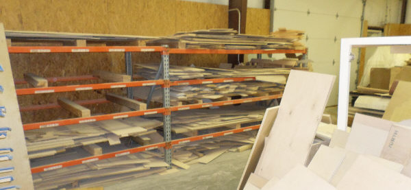 2-SECTIONS OF 48 INCH DEEP x 9 FEET WIDE x 5 FEET TALL PALLET RACKING