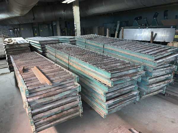 LOT OF 24 INCH WIDE x 10 FT LONG ROLLER CONVEYOR