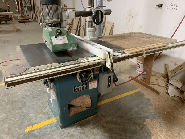 JET CTAS-10-3LFR 10INCH TABLE-SAW WITH STEFF 3-ROLL FEEDER