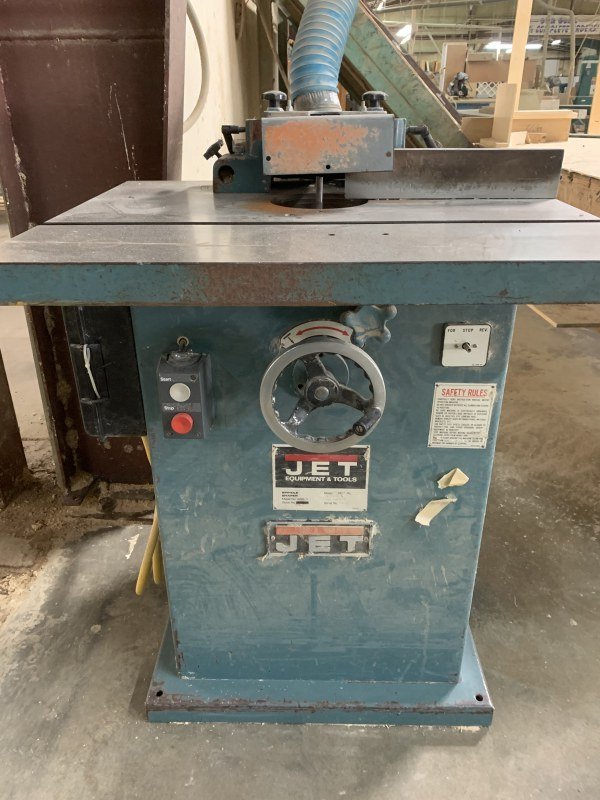 JET WSS-3-3 SINGLE-SPINDLE SHAPER