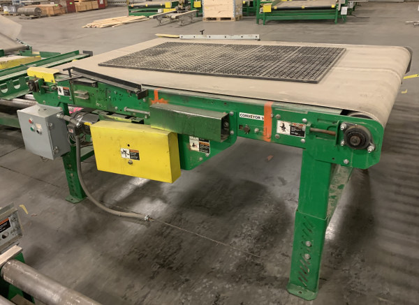 51 INCH WIDE x 5 FT LONG BELT CONVEYOR