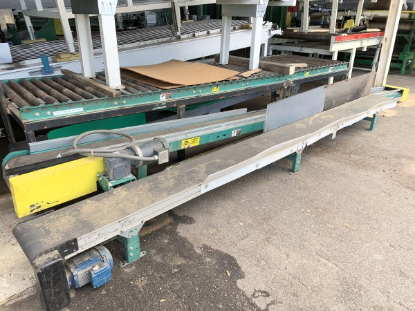 12 INCH WIDE x 16 FT LONG BELT CONVEYOR