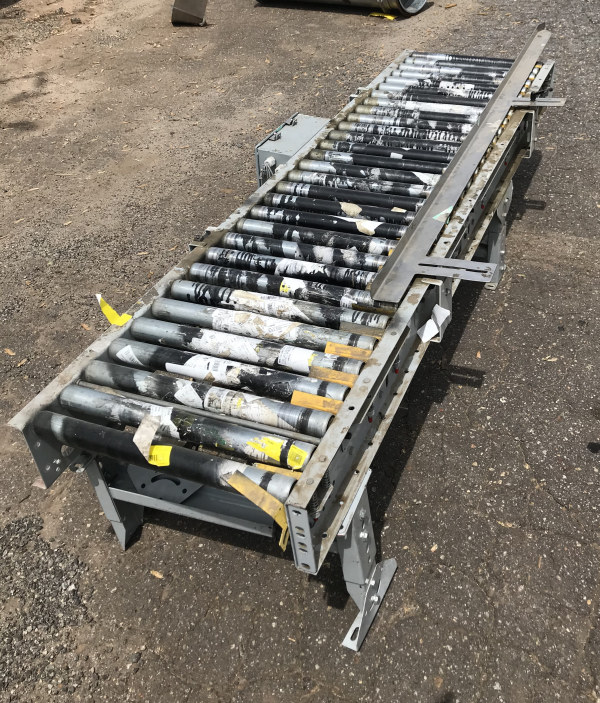 24 INCH x 8 FT-6 INCH LONG POWERED ROLLER CONVEYOR