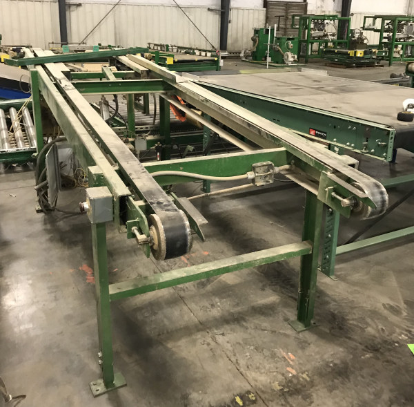 53 INCH x 14 FT LONG DOUBLE BELT INCLINE CONVEYOR