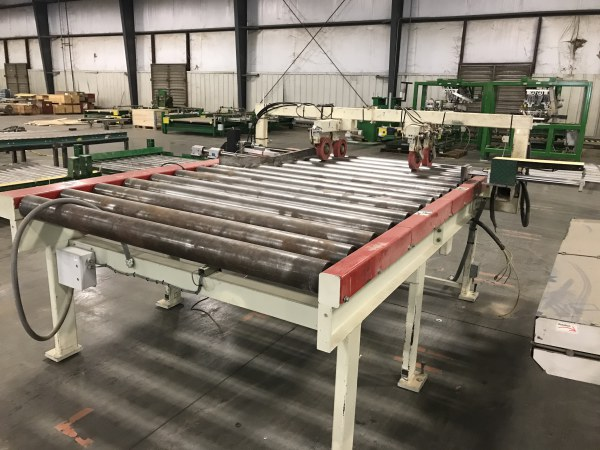 (2) MEREEN JOHNSON POWERED ROLLER FEED CONVEYORS