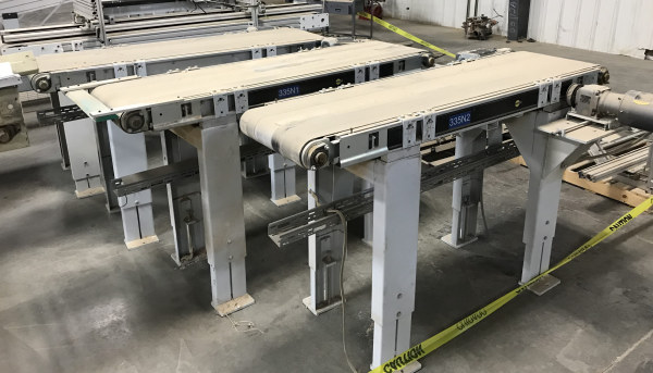 19-1/2 INCH WIDE x 80 INCH LONG BELT CONVEYOR