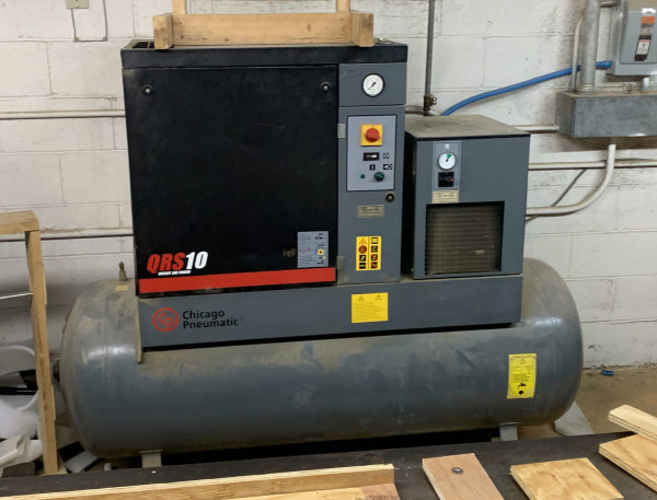 CHICAGO PNEUMATIC QRS10HPD-150, 10 HP ROTARY-SCREW AIR-COMPRESSOR / DRYER COMBINATION