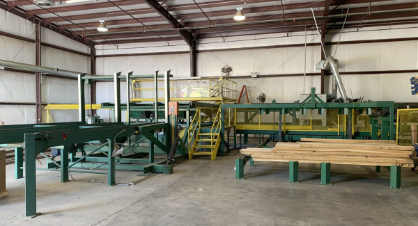 BUSS-AUTOMATION - NEWMAN S-282 LUMBER INSPECTION / PLANING LINE WITH STACKER
