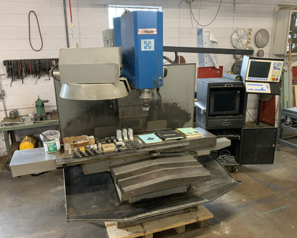 ATRUMP B8AC 50 INCH x 22 INCH CNC VERTICAL MILL WITH ATC AND ACCESSORIES