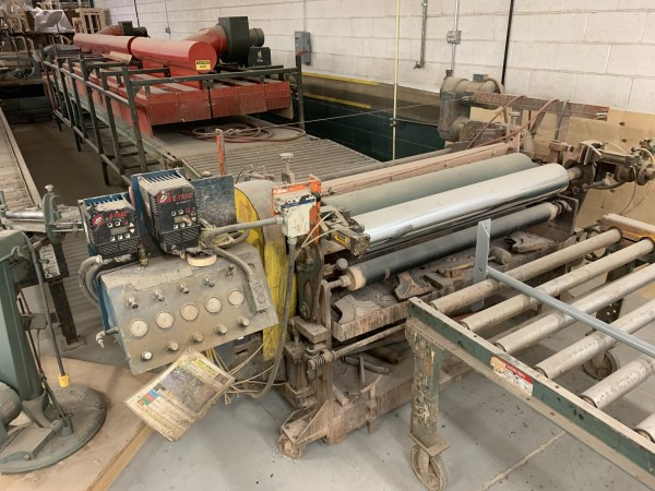 DUBOIS 52 INCH REVERSE ROLL COATING SYSTEM WITH DRYING OVEN AND RETURN CONVEYOR