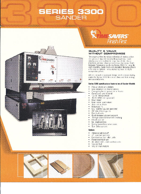 NEW TIMESAVERS 3000 SERIES WIDE-BELT SANDERS